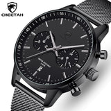 CHEETAH Official New CH1608 Branded Stainless Steel Chronograph Quartz Men's Watch