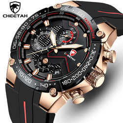 CHEETAH Branded Quartz Mens Sports Watch - with Multi-function LED Display Chronograph and Water Resistance