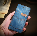 FLOVEME Original Denim Jean Case For iPhone 6, 6 Plus, 6S, 6S Plus, 7, 7 Plus, 8, 8 Plus