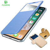 Smart Window View Leather Case for iPhone 6, 6 Plus, 6S, 6S Plus, 7, 7 Plus, 8, 8 Plus, X