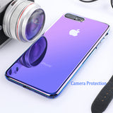 Floveme Gradient Case For iPhone 6, 6 Plus, 6S, 6S Plus, 7, 7 Plus, 8, 8 Plus, X, XR, XS, XS Max