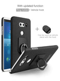 IMAK High Quality Matte Textured Case For LG V30 with Detachable Ring Grip and Screen Protector