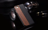 KISSCASE Wood and Leather Fusion Flip Wallet Case For iPhone 6, 6 Plus, 6S, 6S Plus, 7, 7 Plus, 8, 8 Plus, X, XR, XS, XS Max, 11, 11 Pro, 11 Pro Max, Samsung Galaxy S7, S7 Edge, S8, S8 Plus, S9, S9 Plus, S10, S10E, S10 Plus