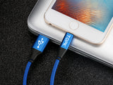 Topk Ultra Durable Nylon Braided Lightning to USB Cable For Apple Products