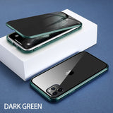KISSCASE Magnetic Tempered Privacy Double Glass Case for iPhone 6, 6 Plus, 6S, 6S Plus, 7, 7 Plus, 8, 8 Plus, X, XR, XS, XS Max, 11, 11 Pro, 11 Pro Max