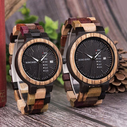 BOBO BIRD Multi-Coloured Wood Watch U-P14-1 - Men and Women Watches available with Gift Box