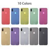 Matte Transparent Ultra-thin 0.3mm Case for iPhone 4, 4S, 5, 5S, 5C, SE, 6, 6S, 6 Plus, 6S Plus, 7, 7 Plus, 8, 8 Plus, X