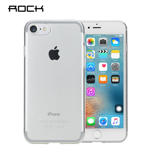 ROCK Silicone Case for iPhone 7 / 7 Plus iPhone 7 / Transparent Clear by Rock - Titanwise