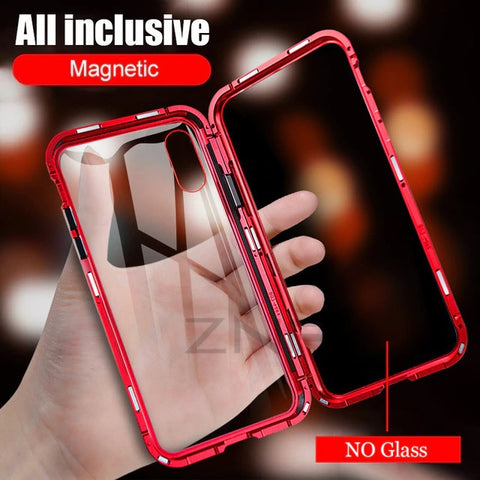 ZNP Magnetic Tempered Glass Case for iPhone 6, 6 Plus, 6S, 6S Plus, 7, 7 Plus, 8, 8 Plus, X, XR, XS, XS Max - Single or Double sided