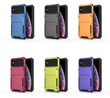 Minvvell Hidden Flip Compartment Hybrid Armour Card Wallet Case for iPhone 6, 6S, 6 Plus, 6S Plus, 7, 7 Plus, 8, 8 Plus, X, XR, XS, XS Max, 11, 11 Pro, 11 Pro Max, SE 2020