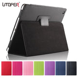 Utoper Litchi Patterned PU Leather Flip Case For iPad Air 1