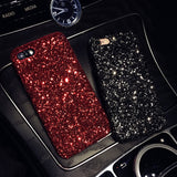 QINUO Glitter Sequin Soft Silicone Bling Phone Case for iPhone 5, 5S, 5C, SE, 6, 6 Plus, 6S, 6S Plus, 7, 7 Plus, 8, 8 Plus, X, XR, XS, XS Max, 11, 11 Pro, 11 Pro Max