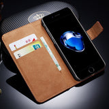 Flip Leather Case with Wallet and Stand for iPhone 7, 7 Plus by Tomkas - Titanwise