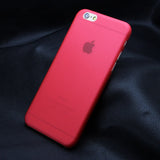 Matte Transparent Ultra-thin 0.3mm Case for iPhone 4, 4S, 5, 5S, SE, 6, 6S, 6 Plus, 6S Plus, 7, 7 Plus Red / For iPhone 5, 5S, SE by Misscase - Titanwise