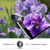 AUKEY 3-in-1 Clip-on Phone Camera Lens - 180 Degree Fisheye, Wide Angle, Macro Lens