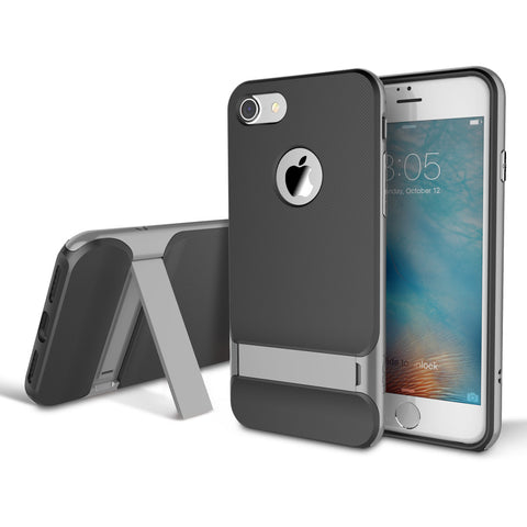 ROCK Royce Kickstand Case for Apple iPhone 7, 7 Plus Grey / For iPhone 7 by Rock - Titanwise