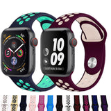 Sports Silicone Strap Band For Apple Watch Series 1, 2, 3, 4, 5 - Sports Holes and 2 Different Lengths