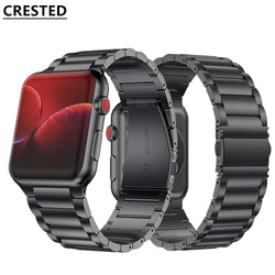 CRESTED Stainless Steel Strap Band for Apple Watch Series 1, 2, 3, 4, 5