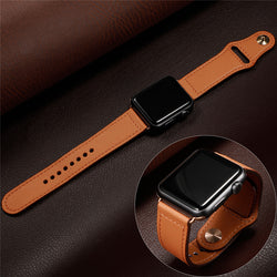 CRESTED Genuine Leather Strap Band for Apple Watch Series 1, 2, 3, 4, 5