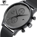 New CHEETAH CH1605 Reloj Hombre Branded Slim Stainless Steel Mens Watch - Quartz Chronograph with Water Resistance