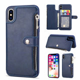 HAISSKY Flip Zipper Wallet Case with Magnetic Snap Button for iPhone 6, 6 Plus, 6S, 6S Plus, 7, 7 Plus, 8, 8 Plus, X, XR, XS, XS Max, 11, 11 Pro, 11 Pro Max, SE 2020