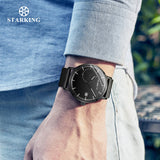 STARKING Official TM0916 Azure Zinc Alloy Men's Quartz Watch - Curved Glass - Stainless Steel Strap