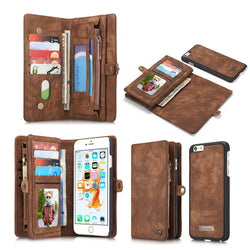 Two Layer Flip Leather Case with Wallet and Stand for iPhone 6, 6 Plus, 6S, 6S Plus, 7, 7 Plus by CaseMe - Titanwise