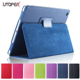Utoper Litchi Patterned PU Leather Flip Case For iPad Mini 1, 2, 3