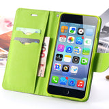Multi-colour Flip Leather Case with Wallet and Stand for iPhone 6, 6 Plus, 6S, 6S Plus, 7, 7 Plus by Kisscase - Titanwise