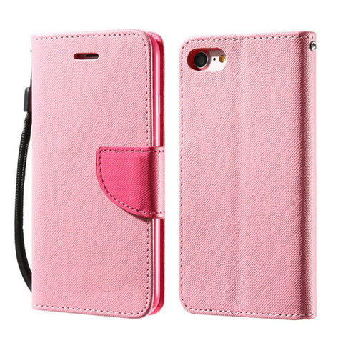 Multi-colour Flip Leather Case with Wallet and Stand for iPhone 6, 6 Plus, 6S, 6S Plus, 7, 7 Plus Pink / For iPhone 6, 6s by Kisscase - Titanwise