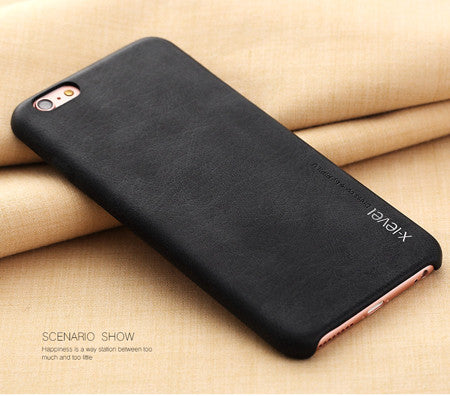 Luxury PU Leather Case for iPhone 6, 6 Plus, 6S, 6S Plus, 7, 7 Plus Black / For iPhone 6, 6s by X-Level - Titanwise