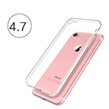 Transparent Silicone Case for iPhone 4, 4S, 5, 5S, SE, 6, 6S, 6 Plus, 6S Plus, 7, 7 Plus For iphone 7 by PZOZ - Titanwise