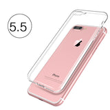Transparent Silicone Case for iPhone 4, 4S, 5, 5S, SE, 6, 6S, 6 Plus, 6S Plus, 7, 7 Plus For iphone 7 Plus by PZOZ - Titanwise