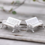 2 Piece Set Mini White Chair Terrarium Decoration