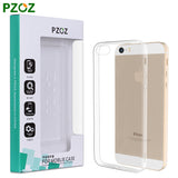 Transparent Silicone Case for iPhone 4, 4S, 5, 5S, SE, 6, 6S, 6 Plus, 6S Plus, 7, 7 Plus For iphone 5, 5s, SE by PZOZ - Titanwise
