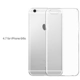 Transparent Silicone Case for iPhone 4, 4S, 5, 5S, SE, 6, 6S, 6 Plus, 6S Plus, 7, 7 Plus For iphone 6, 6s by PZOZ - Titanwise