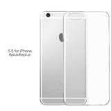 Transparent Silicone Case for iPhone 4, 4S, 5, 5S, SE, 6, 6S, 6 Plus, 6S Plus, 7, 7 Plus For iphone 6 Plus, 6s Plus by PZOZ - Titanwise