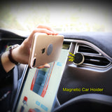 FLOVEME Magnetic Universal Car Air Vent Mobile Phone Holder - Multicolour