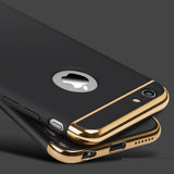 Luxury Metal Case with Logo Window for iPhone 5, 5S, 5C, SE, 6, 6 Plus, 6S, 6S Plus, 7, 7 Plus, 8, 8 Plus, X