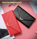 KISSCASE Purse Style Leather Flip Case For iPhone 6, 6 Plus, 6S, 6S Plus, 7, 7 Plus, 8, 8 Plus, Samsung Galaxy S6, S6 Edge, S7, S7 Edge, S8, S8 Plus