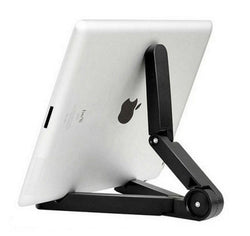Foldable + Adjustable Universal Tablet Stand Black by Powstro K - Titanwise