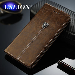 USLION Luxury Flip Wallet Leather Case For iPhone 5, 5S, 5C, SE, 6, 6S, 6 Plus, 6S Plus, 7, 7 Plus, 8, 8 Plus, X, XR, XS, XS Max