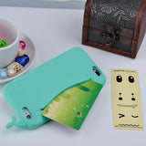Cute Whale Storage Case for iPhone 4, 4S, 5, 5S, 5C, SE, 6, 6S, 7 Green / For iPhone 4, 4s by Titanwise - Titanwise