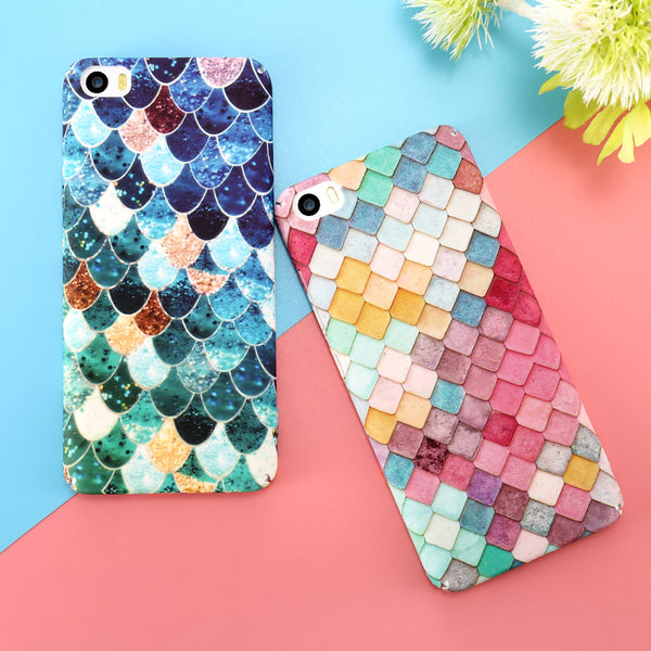 Mermaid and Fish Scale Case for iPhones, Samsung S7, S7 Edge, S8, S8 Plus, Huawei and Xiaomi Phones