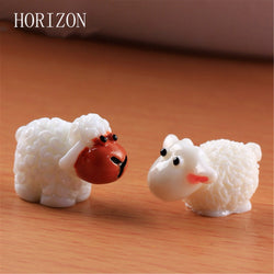2 Piece Set Mini Sheep, Rabbits or Swans Terrarium Decoration
