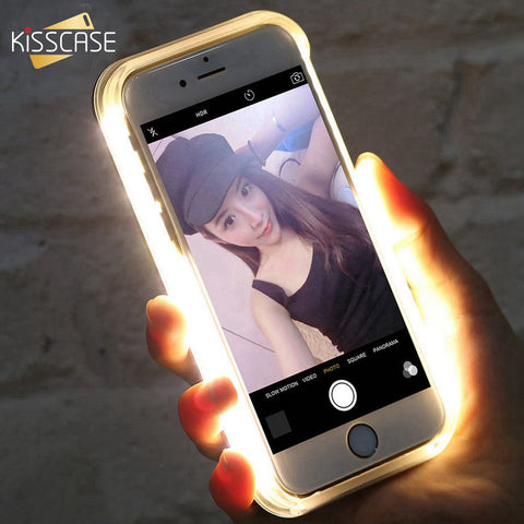 competitive price e03b8 a582e KISSCASE LED Flash Selfie Case For iPhone 6, 6 Plus, 6S, 6S Plus, 7 ...