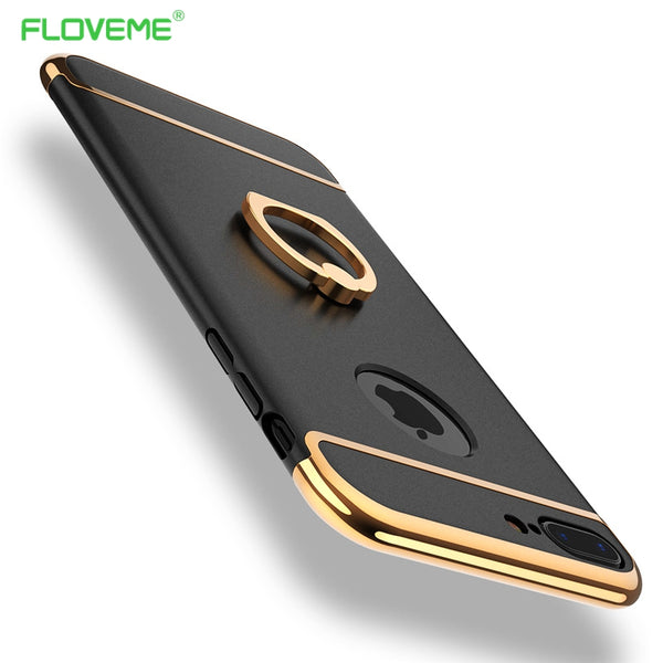 Luxury Metal Ring Grip Case for iPhone 5, 5S, 5C, SE, 6, 6 Plus, 6S, 6S Plus, 7, 7 Plus, 8, 8 Plus