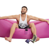 Inflatable Air Sofa/Bed/Sleeping Bag With Side Pocket