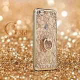 Axbety 3D Gold Ring Grip Case for iPhone 6, 6 Plus, 6S, 6S Plus, 7, 7 Plus, 8, 8 Plus, X, XS, XR, XS Max, 11, 11 Pro, 11 Pro Max