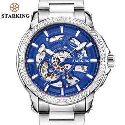 STARKING Official Branded Automatic Mechanical Skeleton Luxury Men's Watch - TM0901 Stainless Steel or AM0271 Leather